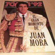 Collectionnisme de Revues et Journaux: REVISTA TOROS ' 92 - N ° 74 - EL GRAN MOMENTO DE JUAN MORA. Lote 248299310