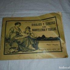 Coleccionismo de Revistas y Periódicos: LA CANASTILLA DE LABORES DIBUJOS Y CENEFAS PARA MANTELERIAS Y TOALLAS.ALBUM DEL HOGAR Y LA MODA Nº 2. Lote 248759795