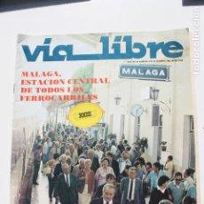 Collezionismo di Riviste e Giornali: VIA LIBRE, TRENES, Nº 225 OCTUBRE 1982, MALAGA ESTACION CENTRAL DE TODOS LOS FERROCARRILES. Lote 248785360