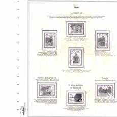 Colecionismo de Revistas e Jornais: SUPLEMENTO EFILCAR 1999 15 ANILLAS 1º PARTE MONTADOEN BLANCO CON FILOESTUCHES PRINZ SEGUNDA MANO. Lote 249581520
