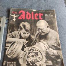 Coleccionismo de Revistas y Periódicos: DER ADLER REVISTA NAZI 1942. Lote 269060538