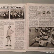 Collectionnisme de Revues et Journaux: 2 HOJAS REVISTA ORIGINALES CIRCA 1914. LAS SALAS DE ARMAS, ESPADAS, ESGRIMA. Lote 251844625