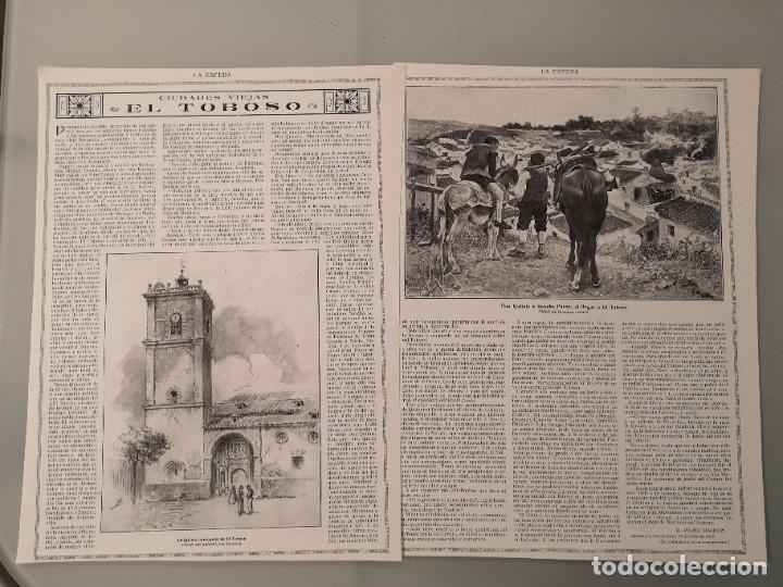 2 HOJAS REVISTA ORIGINALES CIRCA 1914. CIUDADES VIEJAS, EL TOBOSO, PEREZ GALDOS (Coleccionismo - Revistas y Periódicos Antiguos (hasta 1.939))