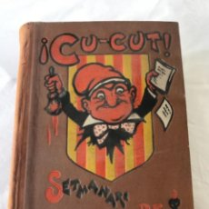 Coleccionismo de Revistas y Periódicos: ¡CU-CUT! SETMANARI DE GRESCA AB NINOTS. ANY III COMPLET . NÚMS. 106 A 157. 1904.. Lote 251962375