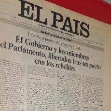 Coleccionismo de Revistas y Periódicos: DIARIO EL PAÍS NÚMERO 1.494 DEL MARTES 24 DE FEBRERO DE 1981 EDICIÓN UNA DE LA TARDE RARA. Lote 252010665