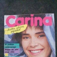 Coleccionismo de Revistas y Periódicos: CARINA 3/1986-SE INCLUYEN LOS PATRONES. Lote 252045170