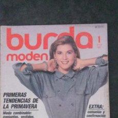 Coleccionismo de Revistas y Periódicos: BURDA MODEN 1/1987-SE INCLUYEN LOS PATRONES. Lote 252045950