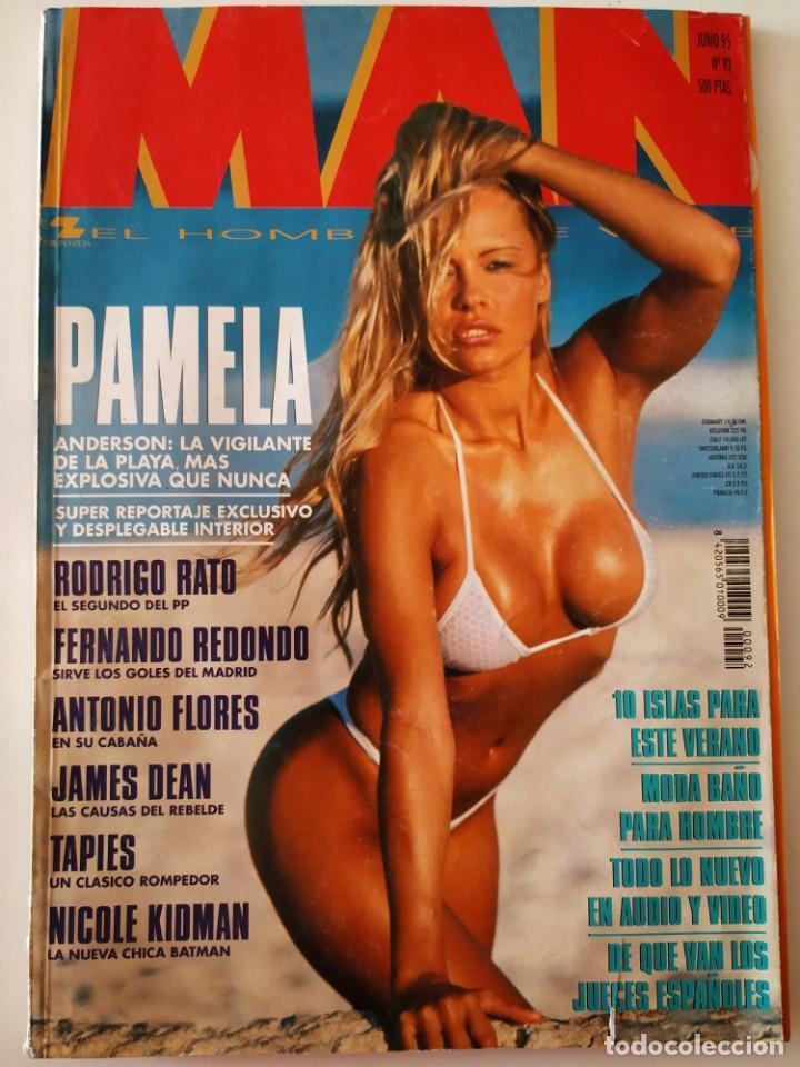REVISTA MAN 92 PAMELA ANDERSON ANTONIO FLORES NICOLE KIDMAN FERNANDO REDONDO RODRIGO RATO JAMES DEAN (Coleccionismo - Revistas y Periódicos Modernos (a partir de 1.940) - Otros)
