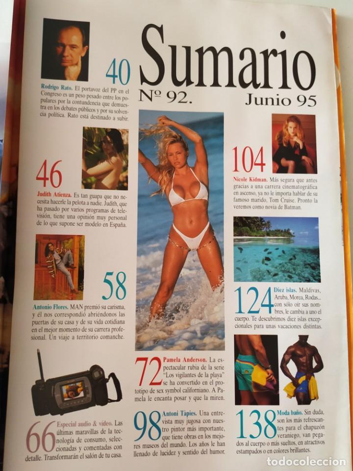 Coleccionismo de Revistas y Periódicos: Revista MAN 92 Pamela Anderson Antonio Flores Nicole Kidman Fernando Redondo Rodrigo Rato James Dean - Foto 8 - 252288390