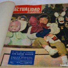 Coleccionismo de Revistas y Periódicos: LA ATUALIDAD ESPAÑOLA / ENERO A ABRIL 1956 / ORIGINAL, ANTIGUA / MUCHA PUBLICIDAD DE LA ÉPOCA ¡MIRA!. Lote 253111600
