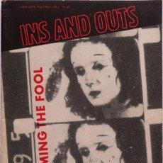 Coleccionismo de Revistas y Periódicos: INS AND OUTS Nº 1. REVISTA ALTERNATIVA DE ARTE, MÚSICA Y POESIA. AMSTERDAM 1978. Lote 253209995
