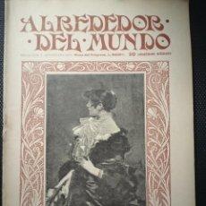 Colecionismo de Revistas e Jornais: REVISTA ALREDEDOR DEL MUNDO - 1902 - Nº 143. Lote 253211990