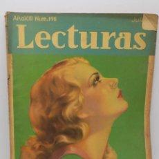 Coleccionismo de Revistas y Periódicos: LECTURAS JULIO 1933. Lote 253229330