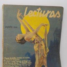 Coleccionismo de Revistas y Periódicos: LECTURAS AGOSTO 1930. Lote 253230130