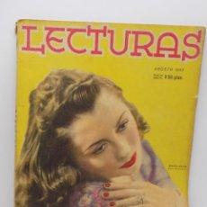 Coleccionismo de Revistas y Periódicos: LECTURAS AGOSTO 1943. Lote 253230340
