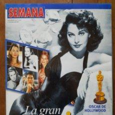 Coleccionismo de Revistas y Periódicos: REVISTA SEMANA 27 MARZO 2002 OSCAR DE HOLLYWOOD. Lote 253246860