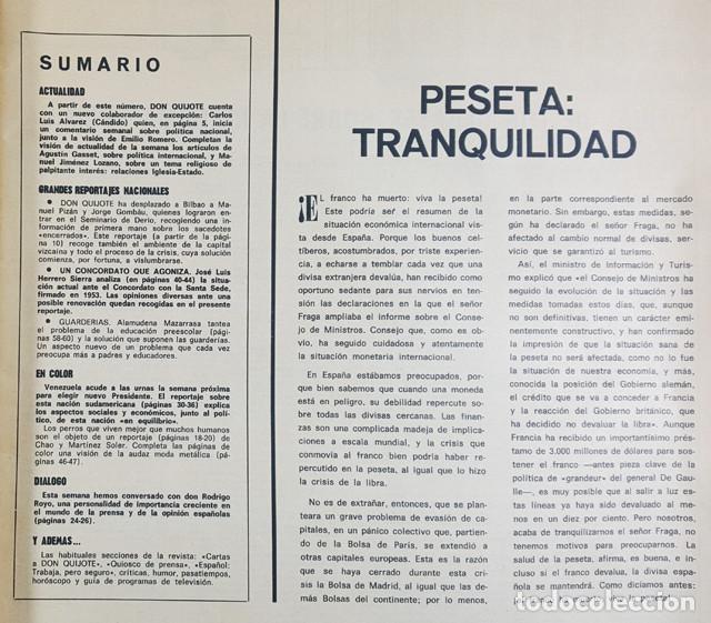 Coleccionismo de Revistas y Periódicos: REVISTA DON QUIJOTE Nº 8 28 NOVEIEMBRE 1968 64 PAG, EL INCOMODO ASUNTO DE LOS CURAS VASCOS - Foto 2 - 253415780