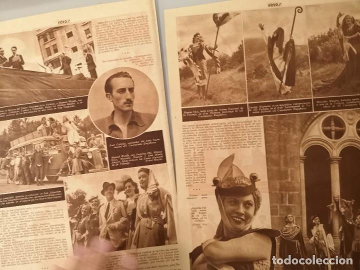 Coleccionismo de Revistas y Periódicos: REPORTAJE PRENSA ORIGINAL 1939. EL TEATRO NACIONAL DE LA FALANGE POR LOS CAMINOS DE ESPAÑA - Foto 2 - 253425515