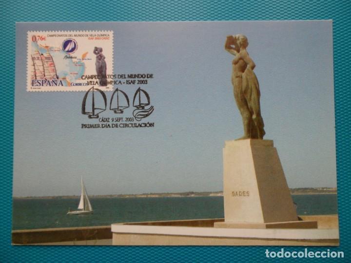 2003-ESPAÑA-TARJETAS MAXIMAS-CAMPEONATOS DEL MUNDO DE VELA OLIMPICA- 2003-CADIZ (Coleccionismo - Revistas y Periódicos Modernos (a partir de 1.940) - Otros)