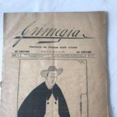 Coleccionismo de Revistas y Periódicos: GRIMEGIA PERIÓDIC DE BROMA AMB NINOTS REUS 1917. Lote 253605575