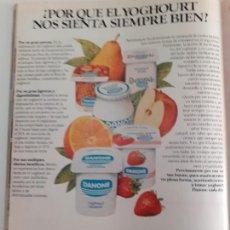 Coleccionismo de Revistas y Periódicos: ANUNCIO PUBLICIDAD DANONE. Lote 253917465