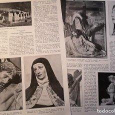 Collectionnisme de Revues et Journaux: 2 HOJAS REVISTA ORIGINALES CIRCA 1935. L'ESCULTOR GREGORI FERNANDEZ, EN CATALAN. Lote 253953700