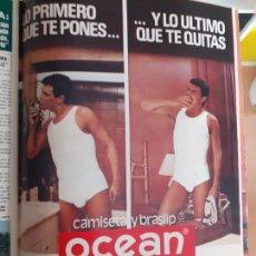 Coleccionismo de Revistas y Periódicos: RECORTE ANUNCIO CALZONCILLOS OCEAN LENCERIA MASCULINA. Lote 254053050