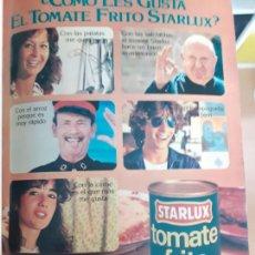 Coleccionismo de Revistas y Periódicos: RECORTE ANUNCIO TOMATE FRITO STARLUX. Lote 254053145