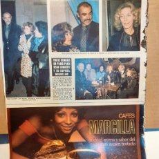 Coleccionismo de Revistas y Periódicos: CAFE MARCILLA LAUREN BACALL SEAN CONNERY. Lote 254055260