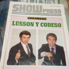 Coleccionismo de Revistas y Periódicos: ANTIGUA REVISTA ESPECTACULO SHOW PRESS LUSSON Y CODESO 1979. Lote 254506210