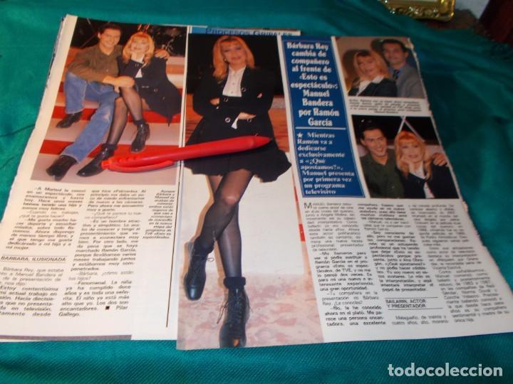 RECORTE : BARBARA REY. SEMANA, FBRO 1995(#) (Coleccionismo - Revistas y Periódicos Modernos (a partir de 1.940) - Otros)