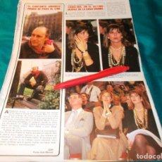 Coleccionismo de Revistas y Periódicos: RECORTE : AMANCIO PRADA. CAROLINA DE MONACO EN DESFILE CASA CHANEL. SEMANA, FBRO 1985(#). Lote 254904350