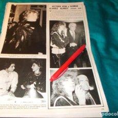 Coleccionismo de Revistas y Periódicos: RECORTE : VICTORIA VERA Y GERMAN ALVAREZ. SEMANA, FBRO 1985(#). Lote 254904530