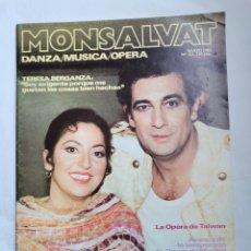 Coleccionismo de Revistas y Periódicos: REVISTA MONSALVAT OPERA DANZA MÚSICA MARZO 1983 PLACIDO DOMINGO. Lote 254905040