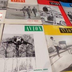 Coleccionismo de Revistas y Periódicos: LOTE 22 REVISTAS DE DIVULGACIÓN AERO Y ASTRONÁUTICA AVION. AÑOS 60. MUY BUEN ESTADO.. Lote 254905090
