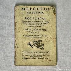 Coleccionismo de Revistas y Periódicos: PERIÓDICO MERCURIO HISTÓRICO Y POLÍTICO - JULIO DE 1753 TOMO CII. Lote 254945145