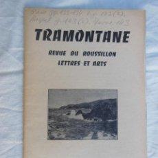 Coleccionismo de Revistas y Periódicos: TRAMONTANE. REVUE DU ROUSSILLON, LETTRES ET ARTS. NÚM 423 - 424, 1959. Lote 254976870
