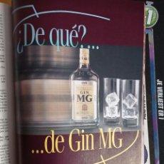 Coleccionismo de Revistas y Periódicos: ANUNCIO GIN MG GINEBRA. Lote 255025635