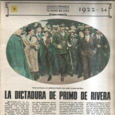 Coleccionismo de Revistas y Periódicos: LA DICTADIRA DE PRIMO DE RIVERA. 1922-24 - ABC. Lote 255394070
