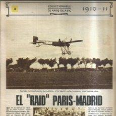 """Coleccionismo de Revistas y Periódicos: """"EL """"""""RAID"""""""" PARIS-MADRID. 1910-11"""" - ABC. Lote 255394080"""