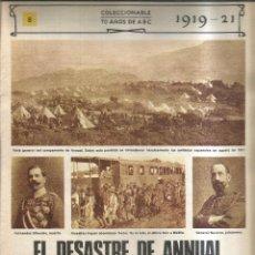 Coleccionismo de Revistas y Periódicos: EL DESASTRE DE ANNUAL. 1919-21 - ABC. Lote 255394095