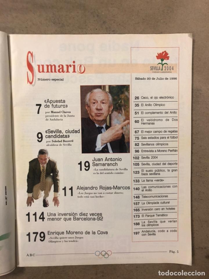 Coleccionismo de Revistas y Periódicos: REVISTA ABC NÚMERO ESPECIAL (1996). SEVILLA 2004 (CANDIDATURA OLÍMPICA). - Foto 2 - 255579090