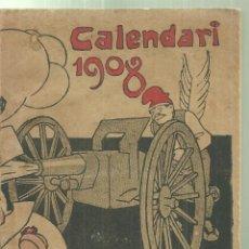 Coleccionismo de Revistas y Periódicos: 4268.- CALENDARI 1908 METRALLA ANY I DE LA SEVA PUBLICACIO-IL.LUSTRACIONS DE JUNCEDA. Lote 255935975