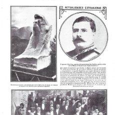 Coleccionismo de Revistas y Periódicos: 1913 HOJA REVISTA SUIZA MONUMENTO ITALIANO A PINTOR PAISAJISTA SEGANTINI - MEXICO GENERAL FÉLIX DÍAZ. Lote 255936250