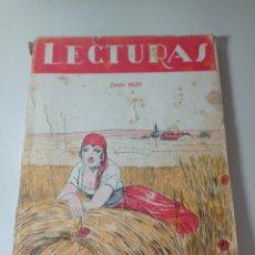 Coleccionismo de Revistas y Periódicos: ANTIGUA REVISTA LECTURAS, JUNIO DE 1928.. Lote 256081055