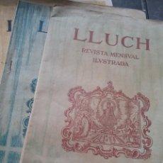 Coleccionismo de Revistas y Periódicos: REVISTA LLUCH. 3 EJEMPLARES DE 1904 (400-6). Lote 257074780