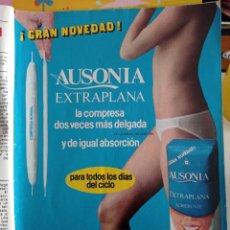 Coleccionismo de Revistas y Periódicos: ANUNCIO AUSONIA COMPRESAS EVAX TAMPAX. Lote 257221970