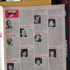 Coleccionismo de Revistas y Periódicos: URI GELLER ROMAN POLANSKI LIZA MINNELLI. Lote 257266710