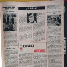 Coleccionismo de Revistas y Periódicos: GRUPOS PUNK ROCK POP. Lote 257267260