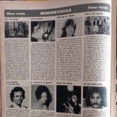 Coleccionismo de Revistas y Periódicos: PEPA FLORES MARISOL SARA MONTIEL JULIO IGLESIAS INTI ILLIMANI UMBERTO TOZZI PABLO ABRAIRA. Lote 257267690